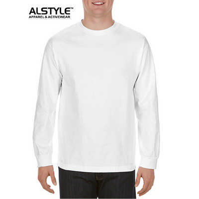 Alystle  Adult Long Sleeve Tee White 1304_WHITE_GILD